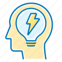 bulb, creative, idea, light, seo icon