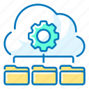 cloud, data, gear, management, seo icon