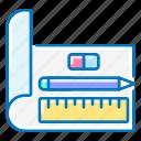 pencil, eraser, ruler, design, seo