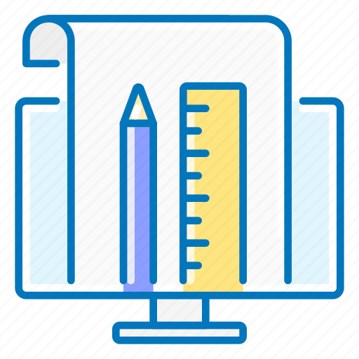 computer, design, graphic, pencil, ruler, seo icon