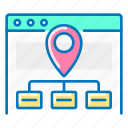 map, navigation, seo, site icon