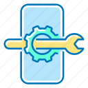 gear, mobile, optimization, phone, seo, wrench icon