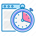 response, seo, stopwatch, time, website icon