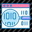 code, coding, magnifier, search, seo, site icon