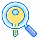 seo, magnifier, search, key, keywords icon