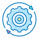 gear, seo, settings, user icon