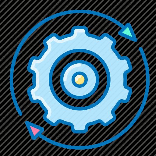 gear, seo, settings, user icon
