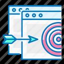 arrow, seo, site, target, targeting icon