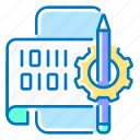 gear, interface, mobile, pencil, phone, seo, user icon