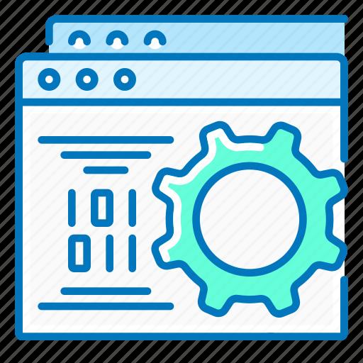 development, gear, optimization, seo, website icon
