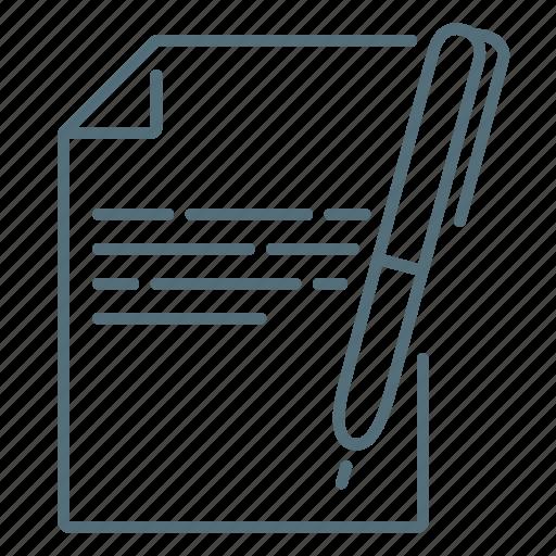 copywriting, document, pen, seo icon