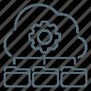 cloud, data, gear, management, seo