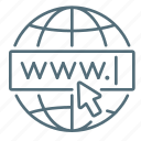 domain, internet, seo, website icon