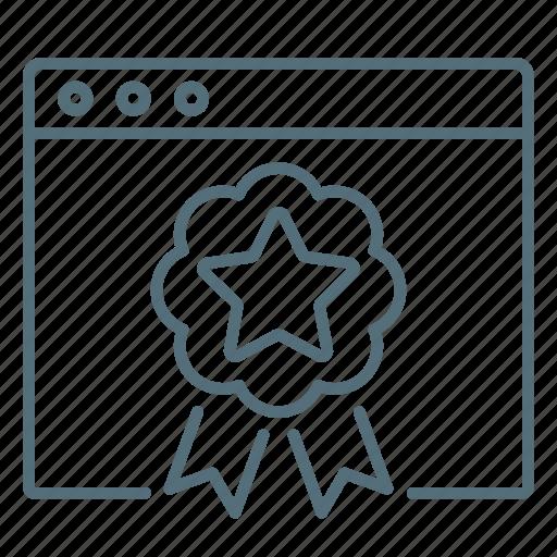 badge, rankings, seo, website icon