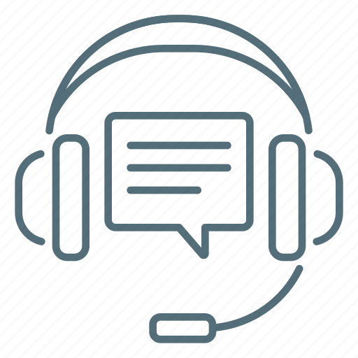 comment, headphones, seo, support icon