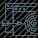 arrow, seo, site, target, targeting