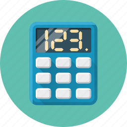calculator, computer, consider, count up icon