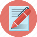 blog, copywriting, paper, pen, write, writing icon