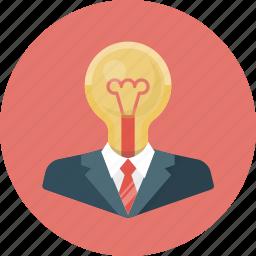 bulb, business, creative, creative idea, idea, lamp, light icon