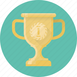 achievement, award, cup, first, prize, trophy, winner icon