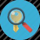 keyword, search, key, magnifier, magnifying, search keyword, seo