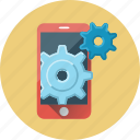 configuration, mobile, mobile seo, phone, seo, settings, smartphone icon