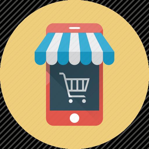 e-commerce, ecommerce, mobile, mobile shop, shop, smartphone, store icon
