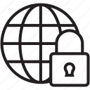 global security, globe, globe lock, globe with lock, lock
