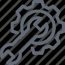 spanner, optimization, gear, cog, settings