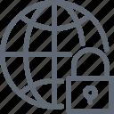globe with lock, globe, globe lock, global security, lock
