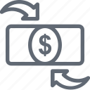 dollar, finance, international business, investment, seo icon