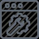 screwdriver, spanner, web preferences, web settings, webpage icon