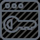 key, keyword, passkey, password, security icon