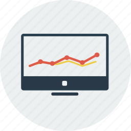 analytics, computer, diagram, graph, marketing, report, screen icon