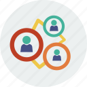 chart, circle, currency, diagram, group, man, people icon