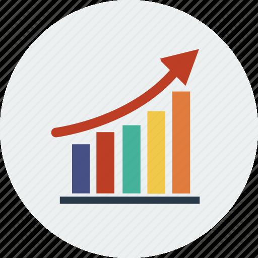 analytics chart graph marketing report seo web icon
