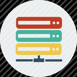 database, host, hosting, internet, lan, network, server icon