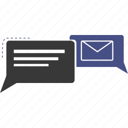 business, chat, ecommerce, email, envelope, internet, talk icon