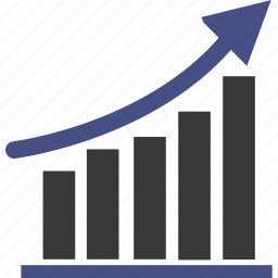 analytics, cart, cash, chart, diagram, graph, present icon