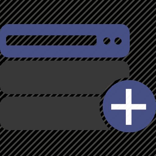 add, cloud, data, database, host, ok, server icon