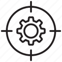 business, goal, profit, setting, target icon