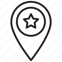 geo, location, star icon