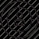 goal, man, target, targeting icon