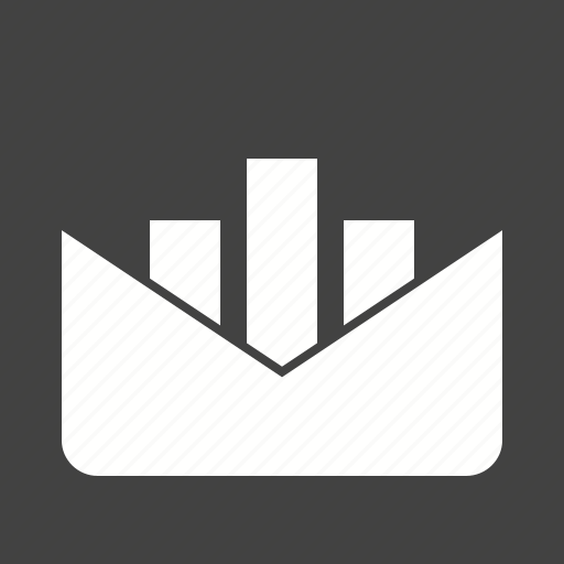 chart, envelop, message, reporting, scale, statistics icon