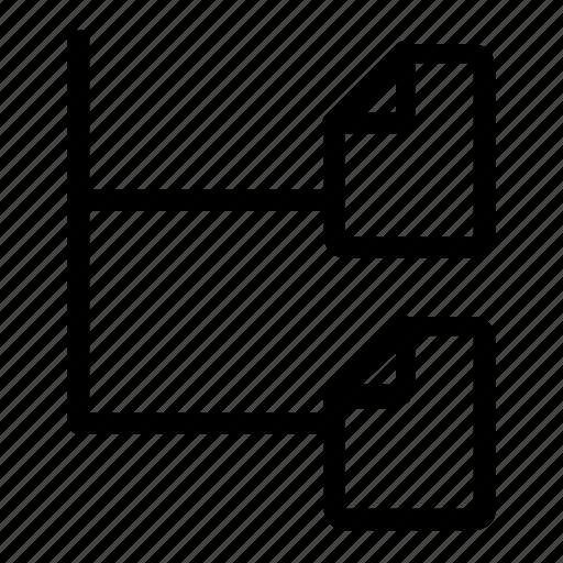 document, down, drop, menu icon