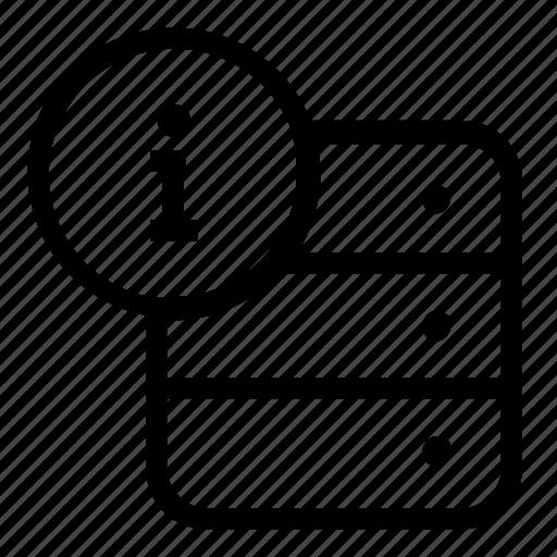 database, information, server icon