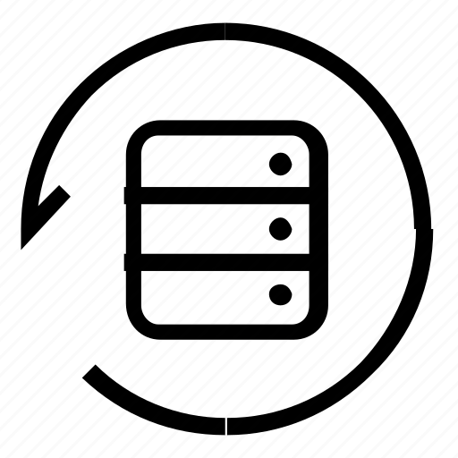 database, refresh, server, sync icon
