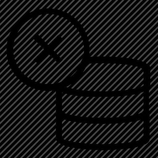 cancel, database, server icon
