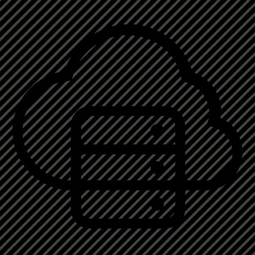 cloud, database, server icon