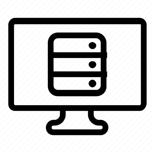 computer, database, server icon